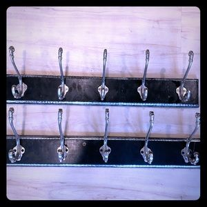 Black & Silver Coat Racks